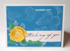 White Butterfly Thinking of You--free card making project