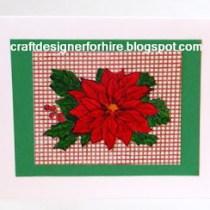 Traditional Poinsettia Card Design