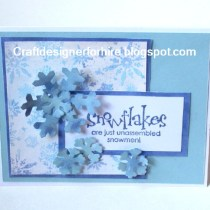 snowflake versatility in holiday card design