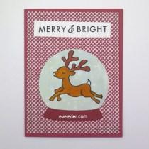 Reindeer Snow Globe Card--Free card making tutorial