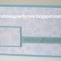 Merry and Bright Snowflake Card