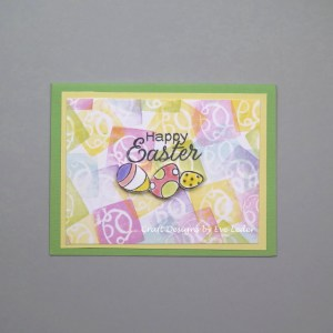 Easter Card Featuring 3-D Easter Eggs--free card making tutorial.