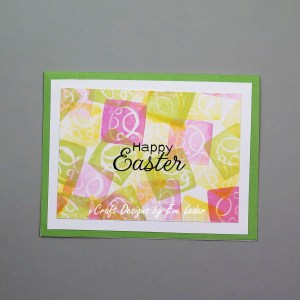 Easter Card Featuring Three Colors--Free Card Making Project