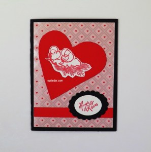 Valentine's Day Card Love Birds