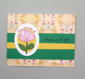 Flower Card--Thinking of You--Free Card Making Tutorial