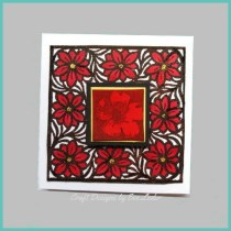 Red Flower Mother's Day Card