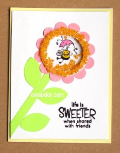 Little Bee Flower Shaker Card