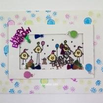 birthday birds shaker card