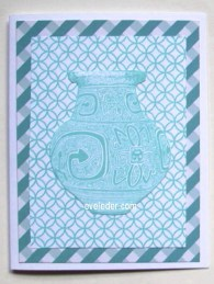 Father's Day Blue Swirl Vase Card--This free card making project would make a nice card for Dad.