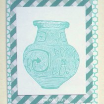 Blue Vase White Background Card--Free tutorial--makes a great Father's Day Card