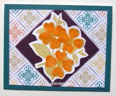Dogwood Trio Diamond Card--free card making tutorial