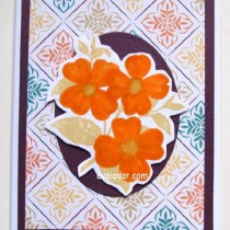 Dogwood Trio Oval Card--free tutorial