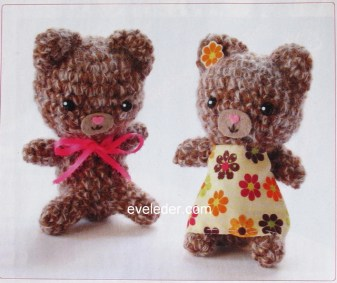 Crochet Amigurumi Twin Bears