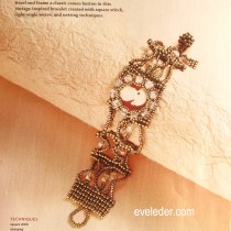 Beaded Cameo Bracelet--Vintage inspired with a modern twist