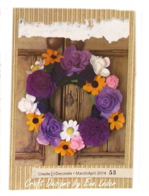 Felt Flower Wreath to Make