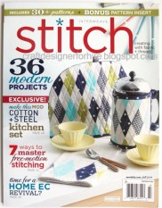 Carousel Pincushion appeared in the Fall 2014 of Stitch Magazine