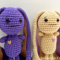 Crochet Long Eared Rabbit--free amgirumi crochet pattern for long eared rabbits
