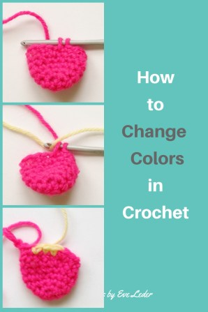 Change Colors — Crochet 101— In this free crochet tutorial you will learn how to change color. Step-by step photos are included.