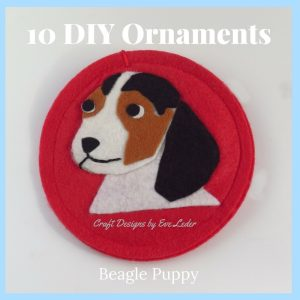 10 DIY Christmas Ornaments that would make a great holiday gift or the perfect finishing touch to your Christmas tree—Beagle Puppy