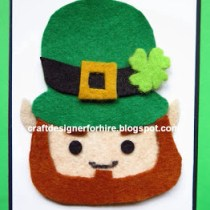 Mixed Media Leprechaun Card for St. Patrick's Day--free card making project