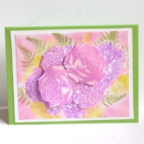 3-D Bridal bouquet card
