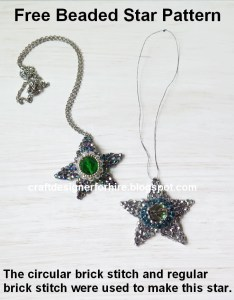 Free Beaded Star Tutorial