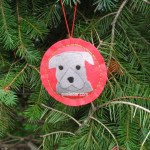 Pit Bull Puppy Christmas Ornaments--all gray