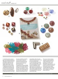 Casual Bead Elegance, Stitch by Stitch featured in the April/May 2017 issue of Beadwork magazine under cool stuff.