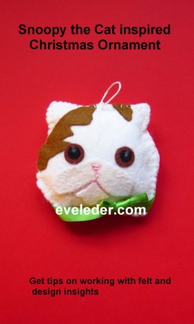 Snoopy the Cat Inspired Ornament