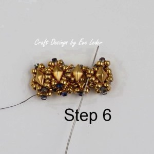 Two-Hole Bead Ring Pattern--Free beading tutorial. (Step 6 )