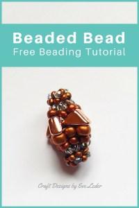 Two-Hole Tango Bead-Beaded Bead — FREE Beading Tutorial — Learn how to make a beaded bead using the two-hole tango bead.