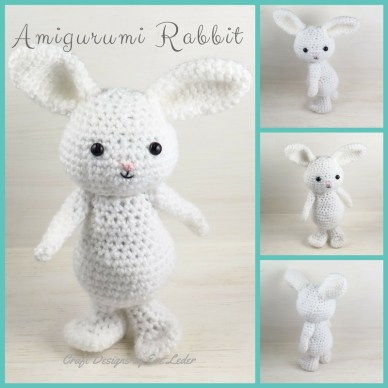 Holiday Crochet Amigurumi Rabbit Pattern Craft Designs By Eve Leder