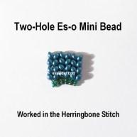 New Two-Hole Es-o Mini Bead--Free herringbone stitch tutorial using a two-hole bead