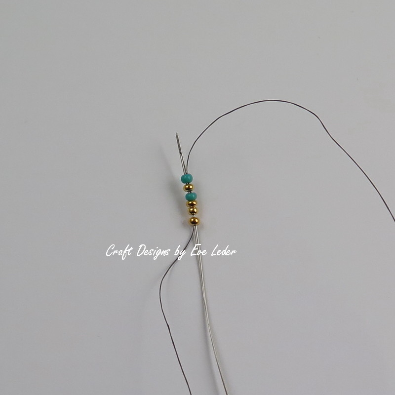 Two-Hole Bead Ladder Stitch Ring — Craft Designs by Eve Leder