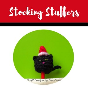Stocking Stuffers (Cat)--FREE crochet pattern for cat, snowman, and penguin.
