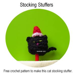 Stocking Stuffers--Free crochet pattern to make this cat, a penguin or a snowman.