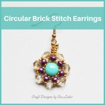 Two-hole Beads Circular Brick Stitch Earrings—Free beading tutorial
