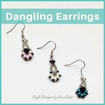 Two Hole Es-O Mini Bead Dangling Earrings—Free Beading Pattern