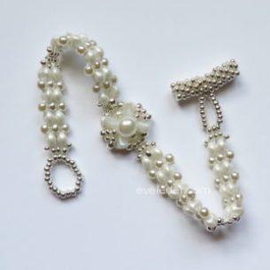 2-Hole Bead Bracelet--Easy Elegance--FREE beaded bracelet pattern.