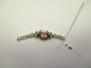 Beaded Rosebud Ring--Free Beading Pattern--make right angle weave band.