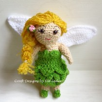 Crochet Fairy--Free crochet amigurumi pattern for a garden fairy that reminds me of Reese Witherspoon.