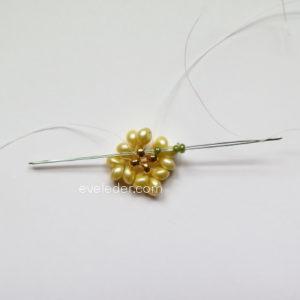 Two Hole Bead Bracelet--FREE beaded bracelet pattern--Fig. 2