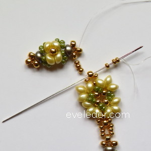 Two Hole Bead Bracelet--FREE beaded bracelet pattern--Fig. 9