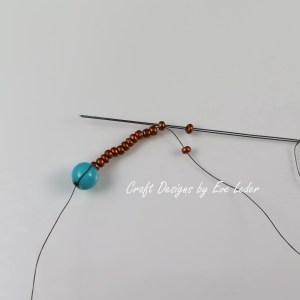 Peyote Stitch Toggle Bar --Free Beading tutorial--Fig. 3