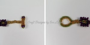Peyote Stitch Toggle Bar — FREE beading tutorial— Loop option #3