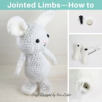 Jointed Limbs — Have you ever wished that your crochet toys had moveable limbs? Learn how to add jointed limbs to your amigurumi toys.
