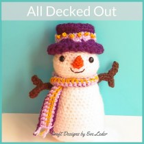 Crochet Snowman Pattern—if your holiday decorations wouldn't be complete without a snowman, then checkout this snowman who is All Decked Out.