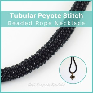 Beaded Rope Necklace—Free Beading Tutorial —Learn how to create a beaded rope necklace using the peyote stitch. A great way to show off your pendant.