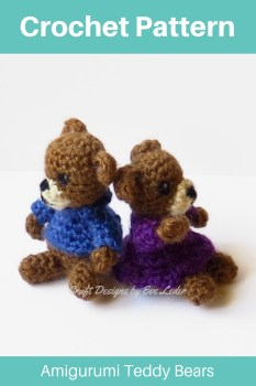 Teddy Bear — Free Crochet Pattern — Make these adorable amigurumi style teddy bears. You can give them as a toy or as an ornament.