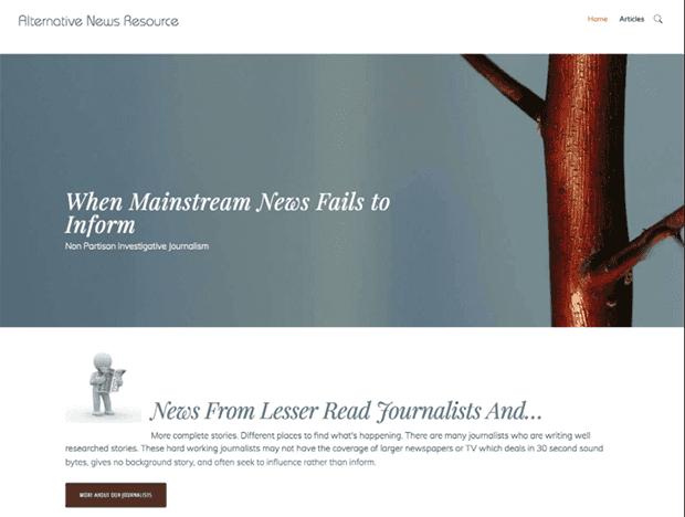 AlternativeNewsResource.com website image
